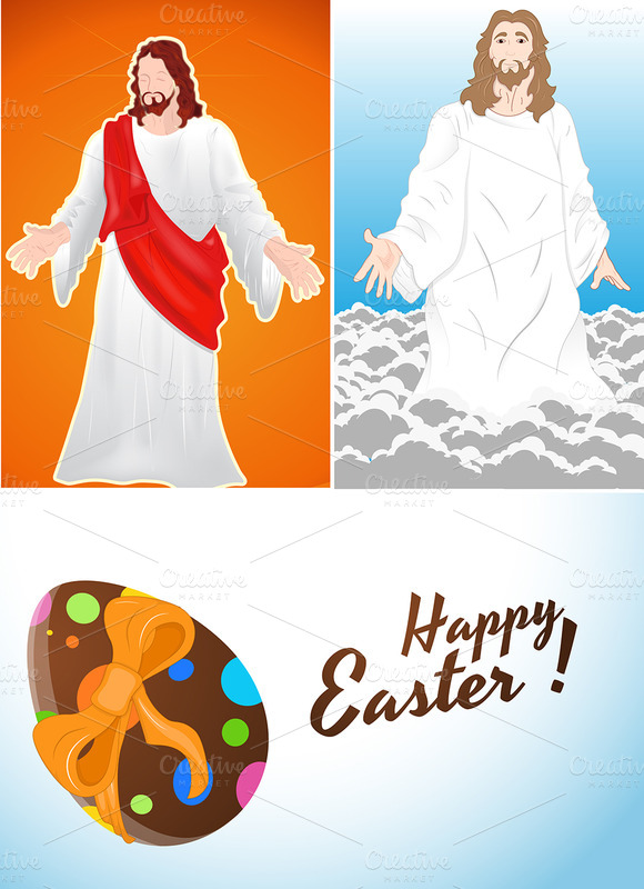 Easter Jesus Vector Backgrounds