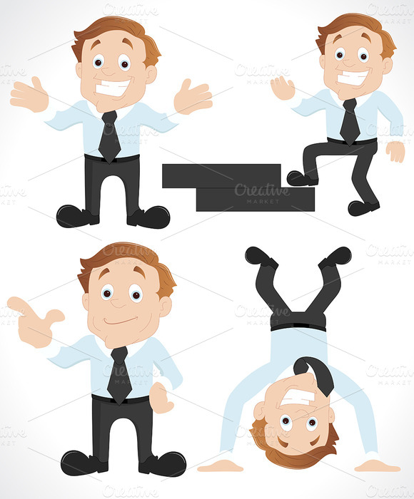 Salesman Cartoon Vectors