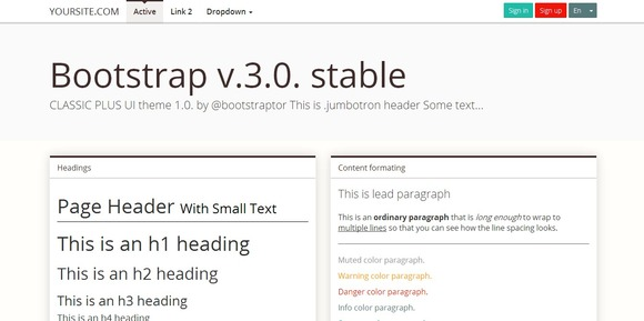 Bootstrap 3.0 Mnml Brown Theme