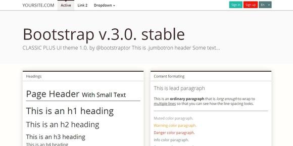 Bootstrap 3.0 Mnml Brown Theme