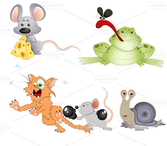 Cute Cartoon Animals Vectors