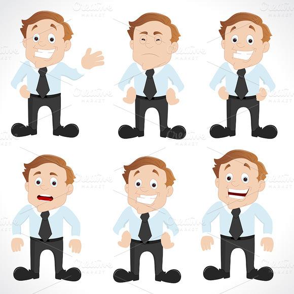 Office Employee Characters Vectors