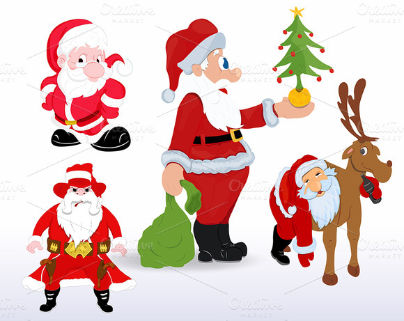 Santa Vectors For Christmas