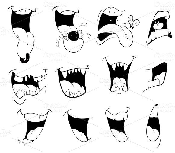 Cartoon Mouth Vector Designs