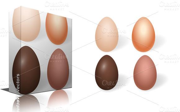Choco Vector Eggs Designs