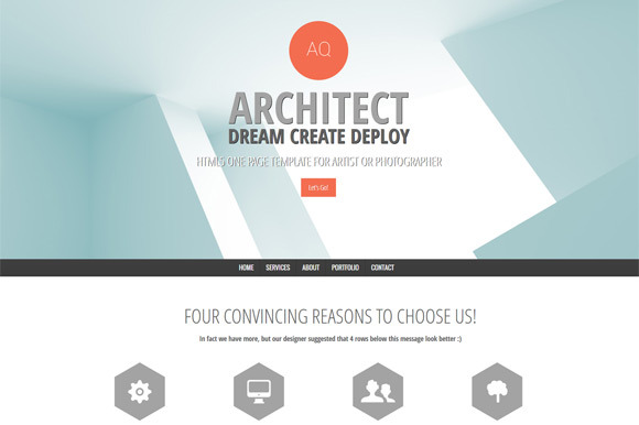 One Page Architect Portfolio