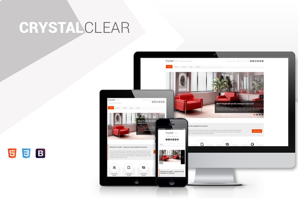 Crystal Clean Bootstrap Theme