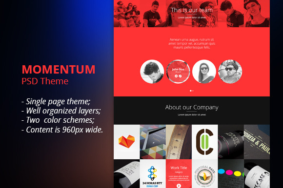 Momentum Multipurpose PSD Template