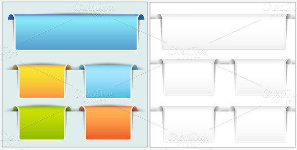 Web Elements Vector Banners