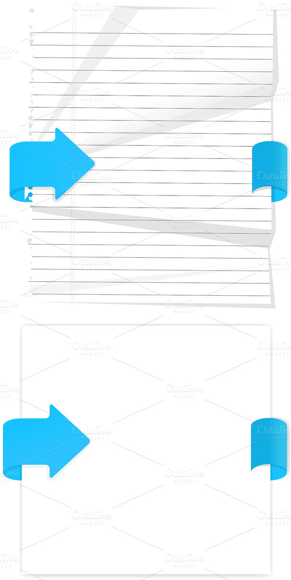 Web Paper Elements Vectors
