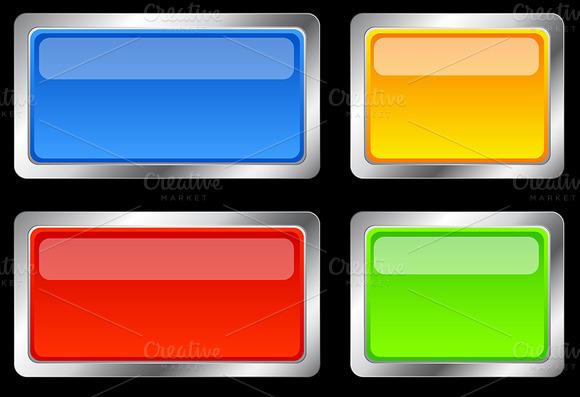 Boxy Glossy Buttons