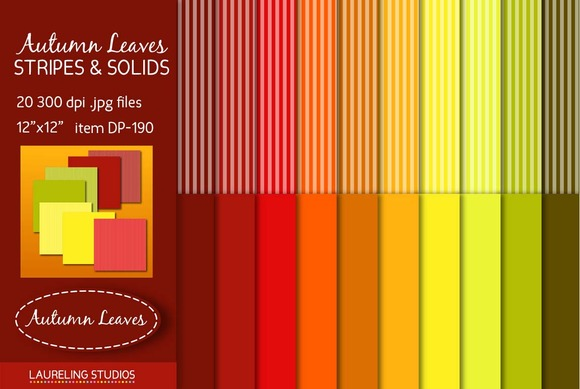 Stripes Solids Digital Paper