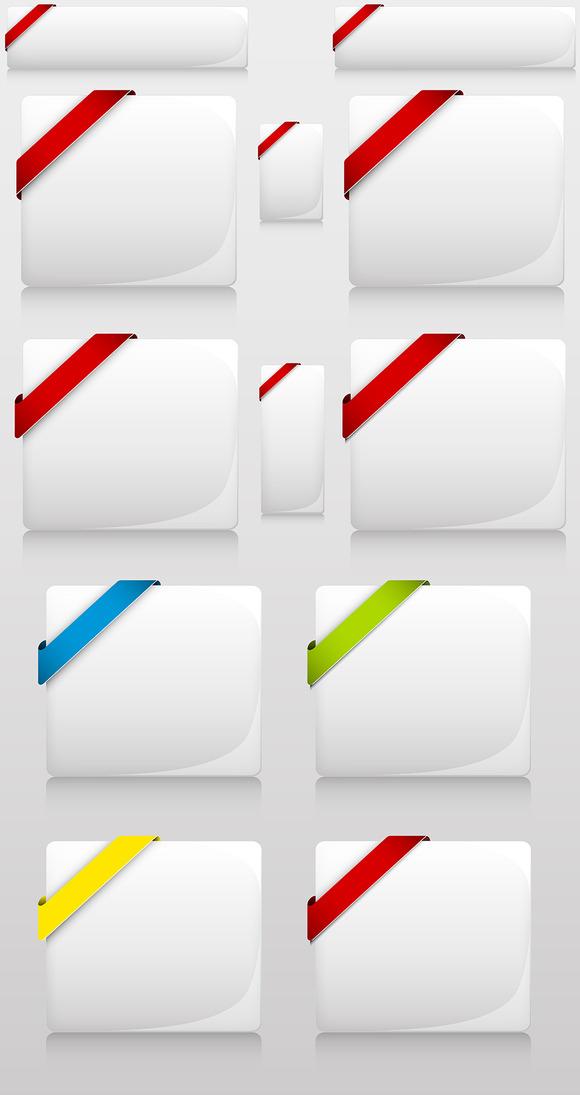 Corner Ribbon Info Boxes Designs