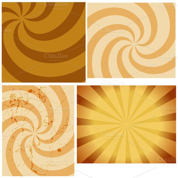 Circular Sunbursts Backgrounds