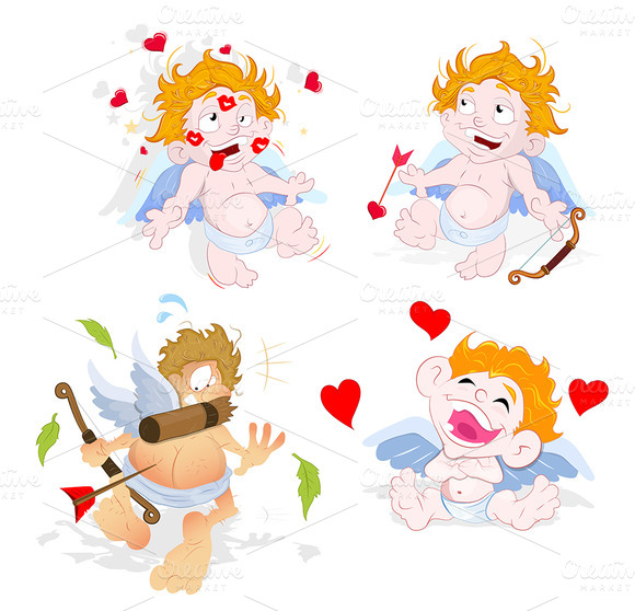 Valentine Lover Cupids Vectors