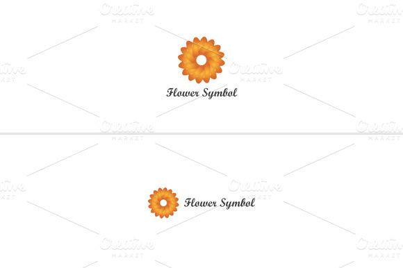 Flower Symbal Logo