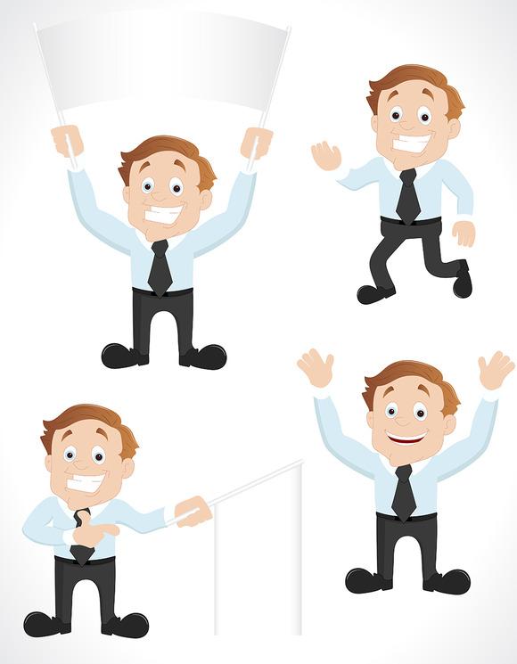 Salesman Vector Characters