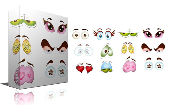 Cartoon Eyes Vector Expressions