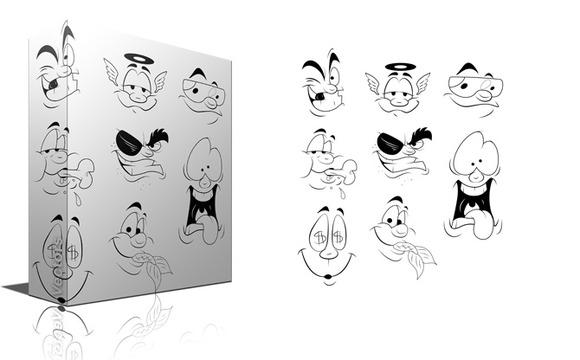 Funny Cartoon Faces