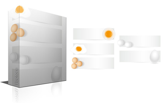 Easter Eggs Vector Banners