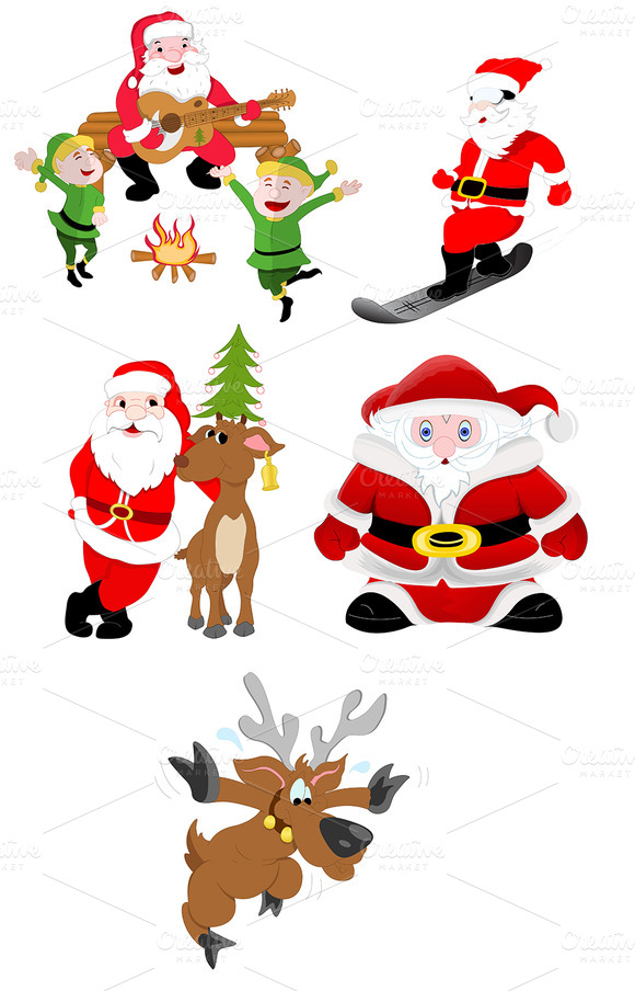Christmas Santa Vector Art