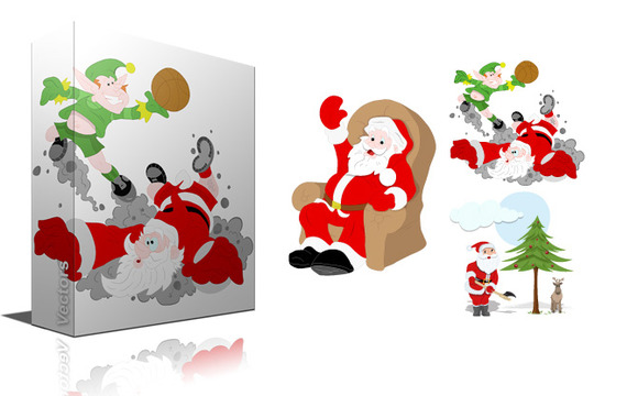 Christmas Santa Cartoon Vectors