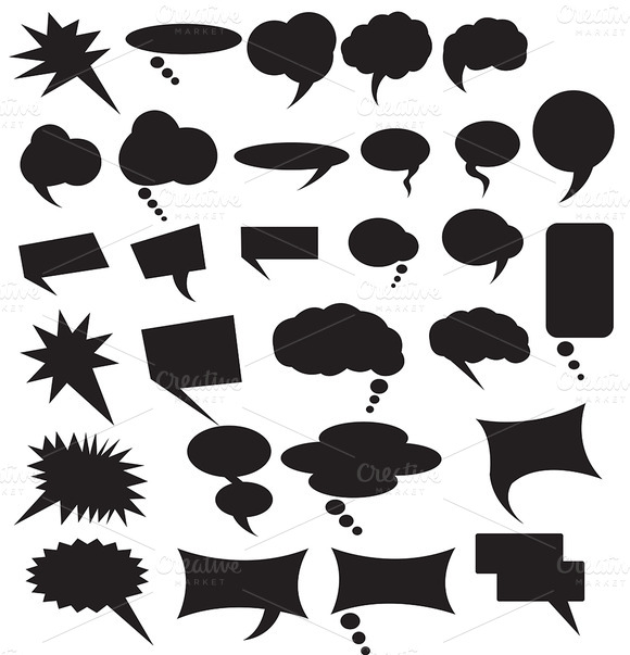 Speech Bubbles Vector Collection