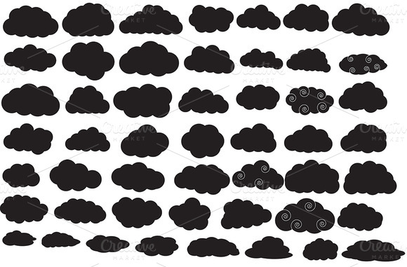 Clouds Silhouettes Collection