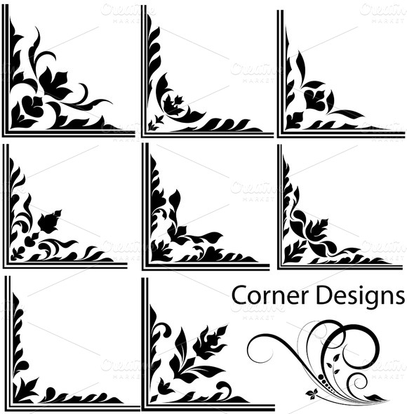 Corner Scroll Design For Wood Templet 187 Designtube
