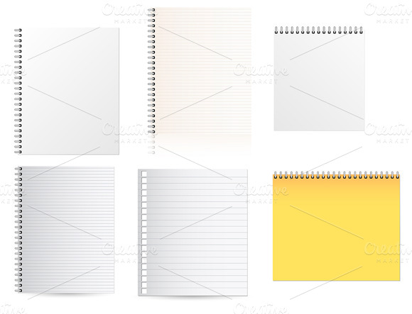 Notepads Vector Papers