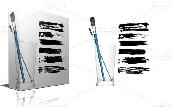 Paint Brush Strokes Vector Designs