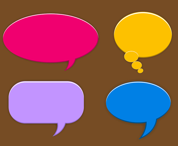 Speech Balloons Vector Elements