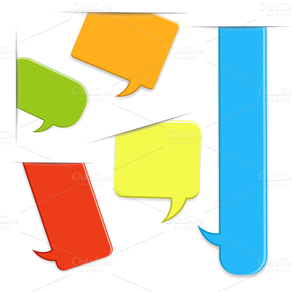 Speech Balloons Vector Banners