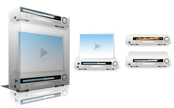 Video And DVD Player Vectors