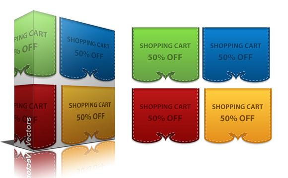 Sale Discount Banners Vectors