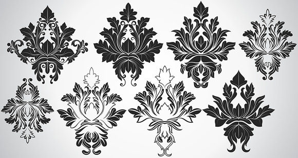 Damask Vector Designs