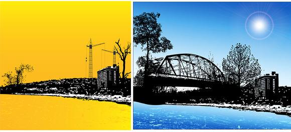 Urban Horizon Backgrounds