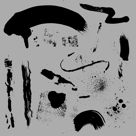 Collection Of Grunge Brush Strokes