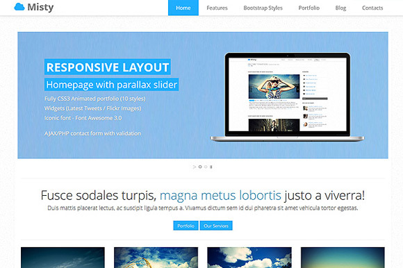 Misty Advanced Bootstrap Theme