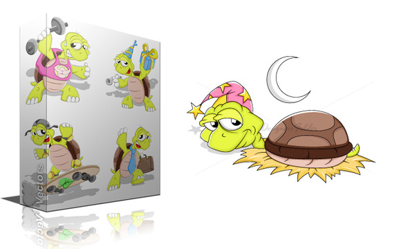 Cartoon Turtle Vectors