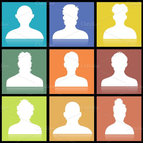Male Profile Icons