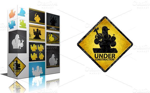 Under Construction Backgrounds Pack