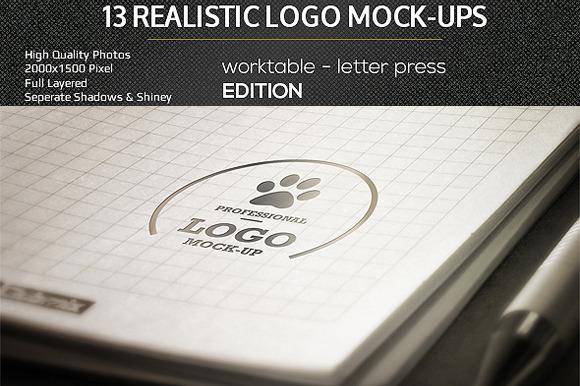 Realistic Logo Mock-Ups Worktable