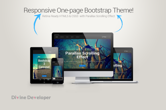 FlatSmart Responsive One Page
