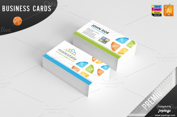 3D Real Estate Business Cards Design