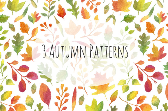 3 Autumn Seamless Patterns