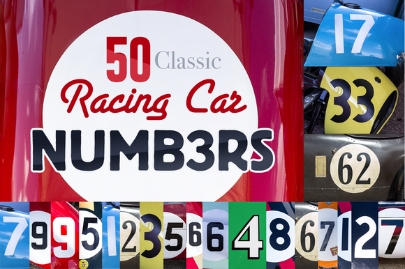 50 HR Classic Race Car Numbers
