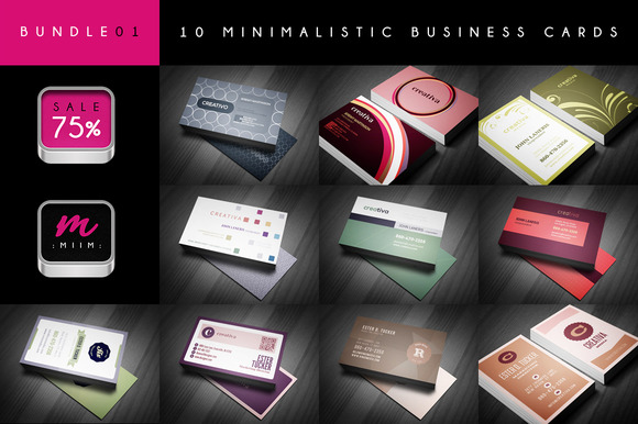 Sale 75% 10 Business Cards Bundle