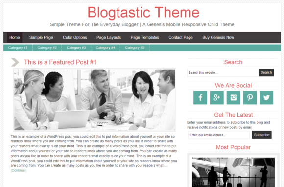 Blogtastic Theme Simple Theme For
