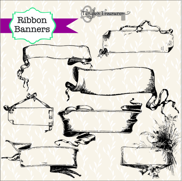 Vintage Ribbon Banners
